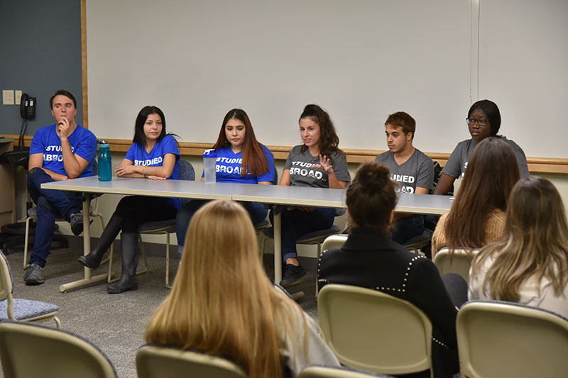 Student panel on studying abroad