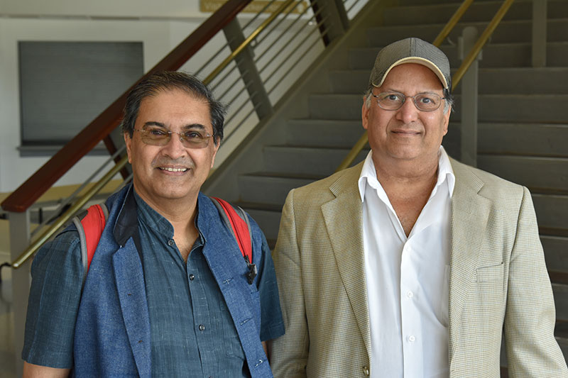 Surajit Sen with Alok Kumar during his campus visit to speak