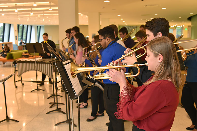 Latin jazz band performs