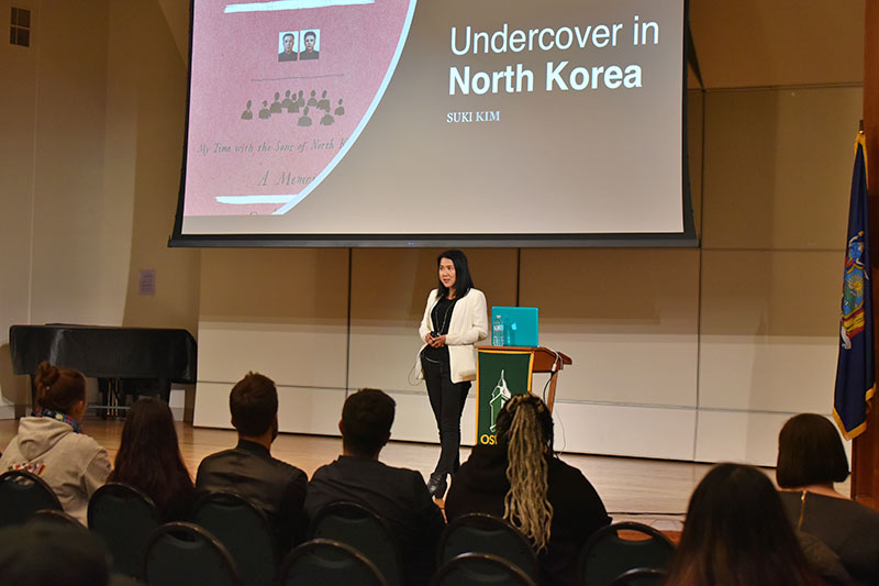 Hart Global Awareness Conference keynote speaker Suki Kim, who lived undercover in North Korea for immersive journalism, speaks Nov. 10