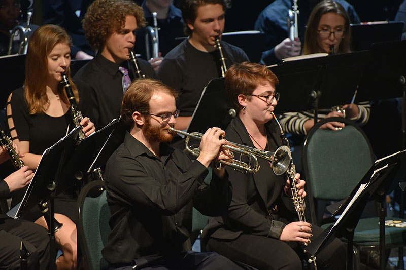 Wind Ensemble and soloists perform