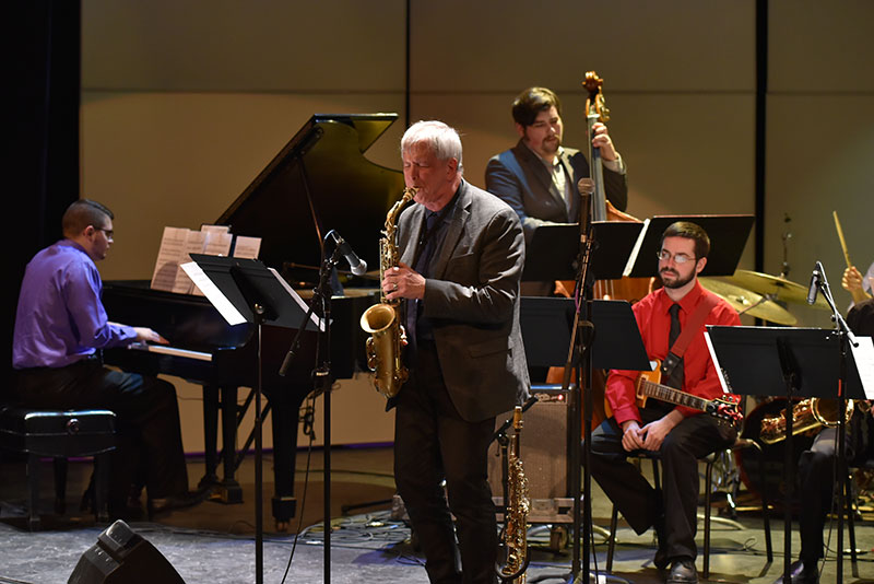 Special guest Dick Oatts fronts the college's Jazz Ensemble in a concert