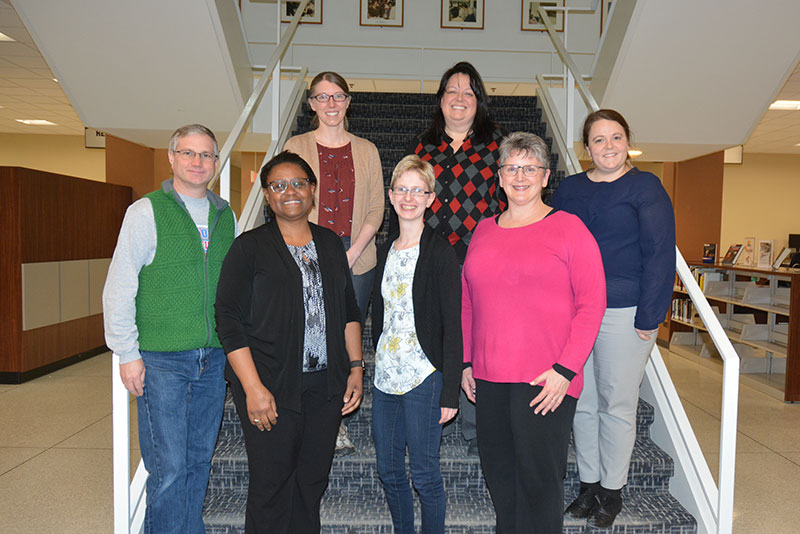 The college's first Faculty Accessibility Fellows gather