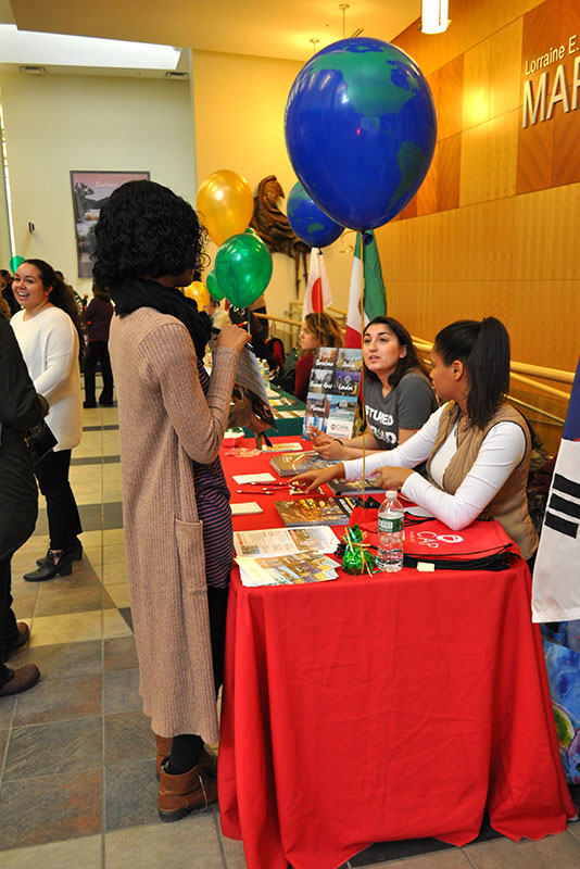 Study Abroad Fair featured representatives discussing international opportunities