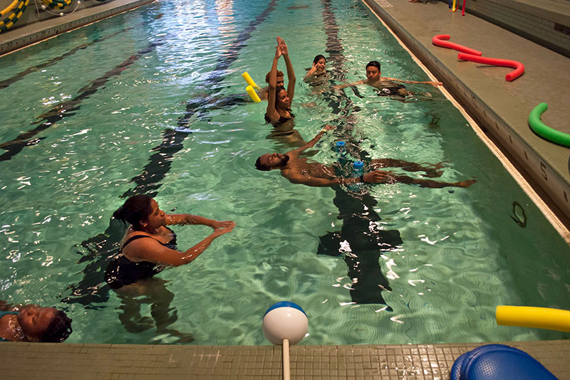 Students take advantage of free swimming lessons