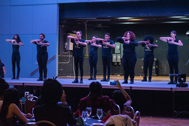 The Image Step Team performs at the 51st annual Black Student Union Dinne
