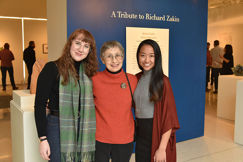 Helen Zakin with scholarship recipients of a fund named after her late husband Richard