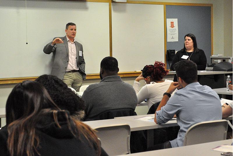 Alumnus Scott Mattoon and Vanessa Decker speak about orthopedics