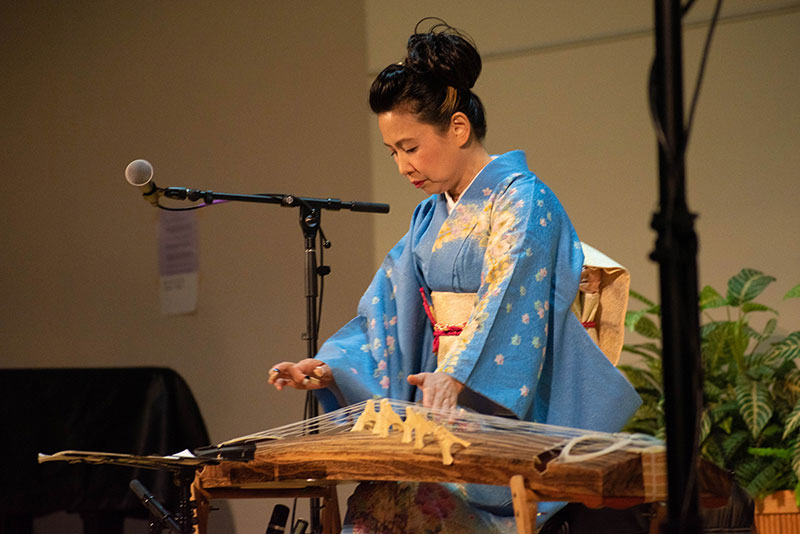 Masayo Ishigure plays a koto