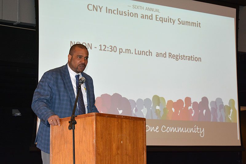 Rodman King speaks at inclusion and equity summit
