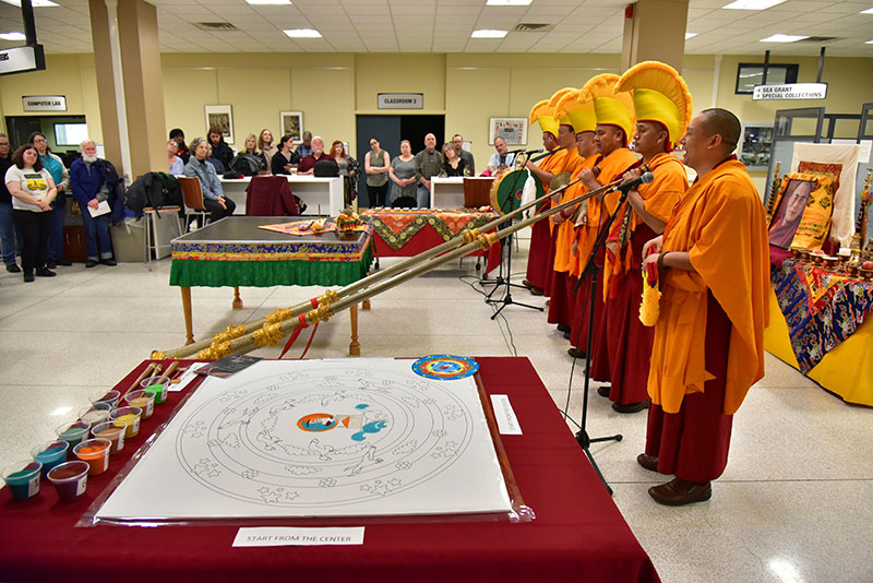 "The opening ceremony of ""The Mystical Arts of Tibet"" gets underway"