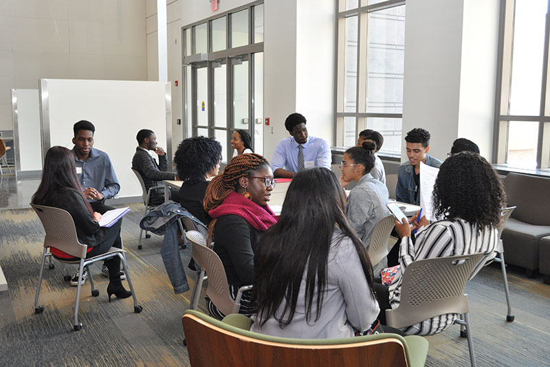 Session on mock interviews during Minorities Meet conference