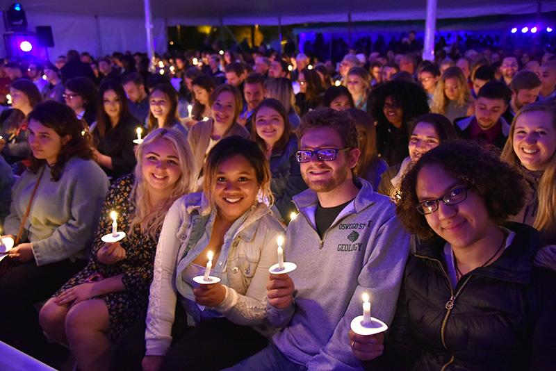 Hundreds of seniors gather for the 2019 Torchlight Ceremony
