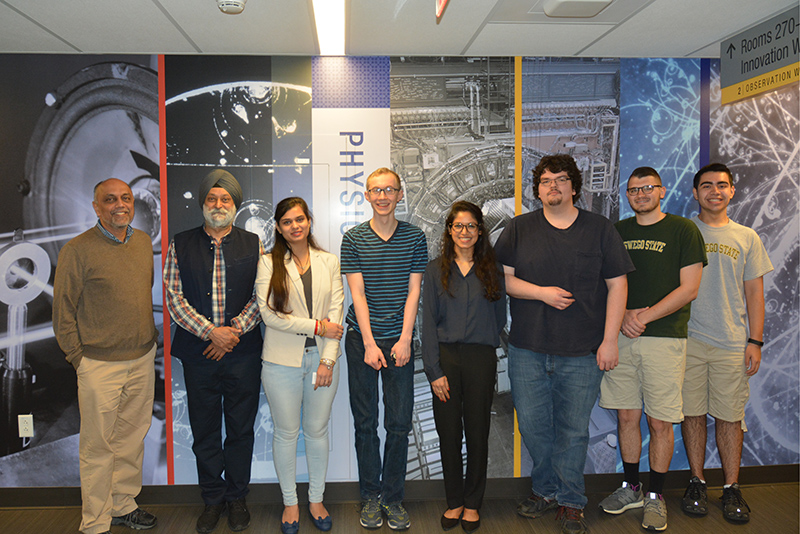 Students from SUNY Oswego and India have been sharing knowledge on as part of a big research project probing the age and size of the universe