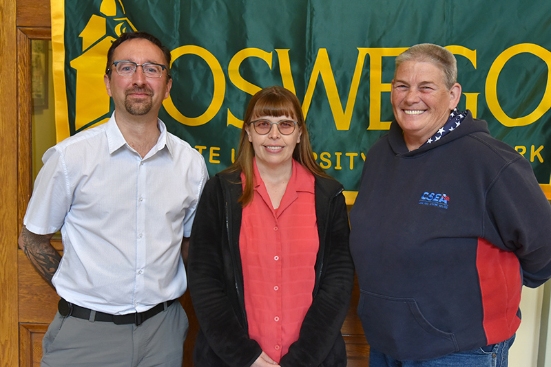 Several employees were recognized for 15 years with SUNY Oswego