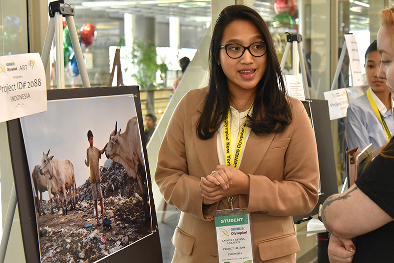 Anindya Revina Larasati, a student from Indonesia, talks about her environmental photography