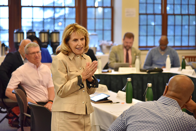 resident Deborah F. Stanley welcomes top student affairs leaders from across SUNY