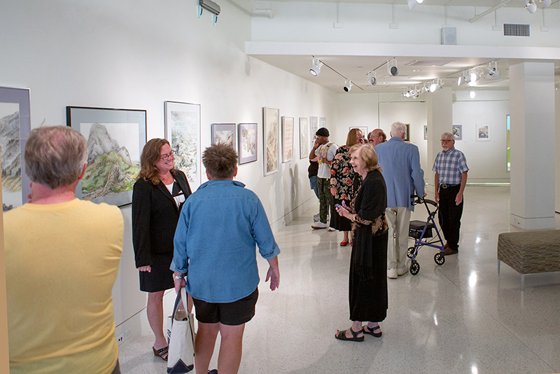 Opening reception for Tyler Art Gallery exhibition Water: Swift, Slow and In Between