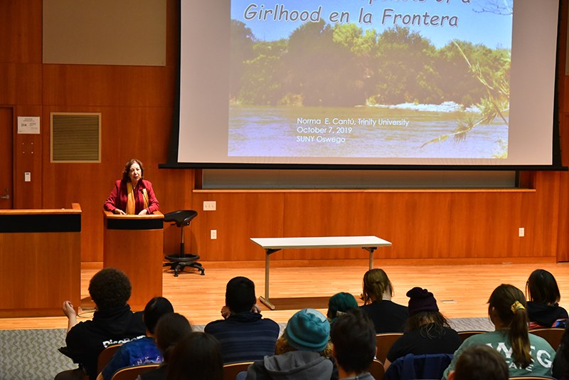 Author Norma Elia Cantu spoke at the Oct. 7 edition of the Living Writers Series