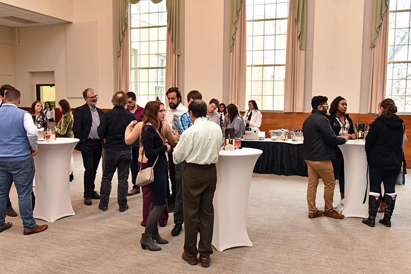 Students, faculty, staff and guests networked during the Graduate Studies Reception Nov. 5