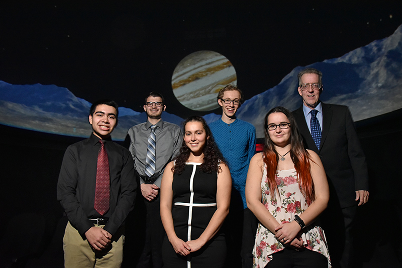 "Students in Scott Roby's Astronomy 390 ""Planetarium Lab"" course, exploring the solar system and beyond, had a chance to give presentations to share what they have learned"