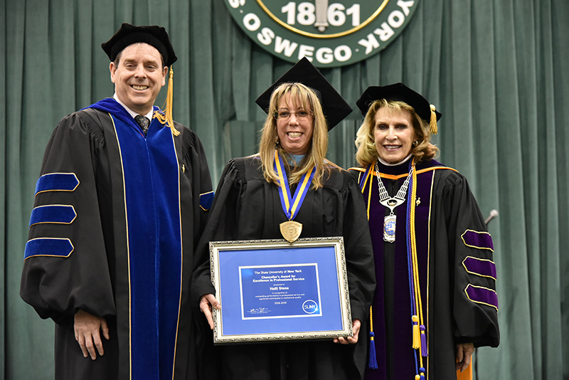 Holli Stone, director of Campus Life event management, for receives a 2019 SUNY Chancellor's Award for Excellence in Professional Service.