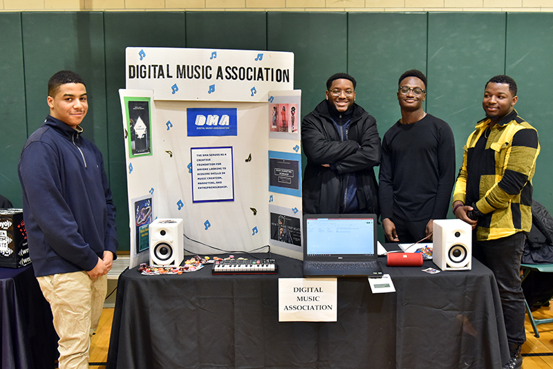 Digital Music Association representatives at Student Involvement Fair