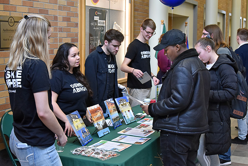 Students learn more about international opportunities at Study Abroad Fair
