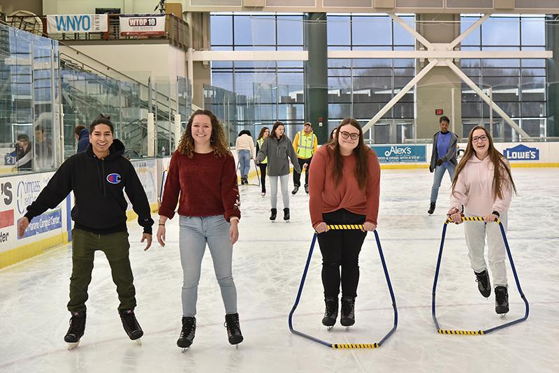 Students enjoy Valentine's Day skate
