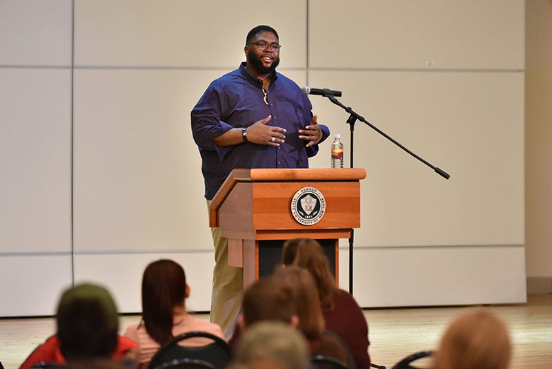 The I Am Oz Speaker Series on March 5 featured sociologist Anthony Jack, an author and assistant professor at the Harvard Graduate School of Education