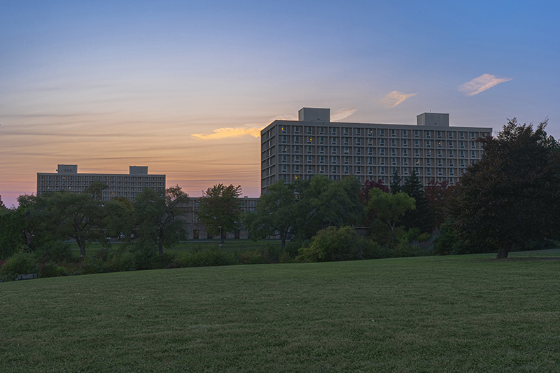 The sun sets over West Campus in a timeless serene scene on Sept. 27.