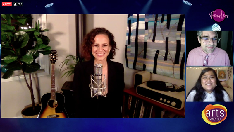 Broadway star Mandy Gonzalez performed a free virtual concert at on Sept. 29 as part of the college's Artswego Performing Arts Series and ALANA Conference.