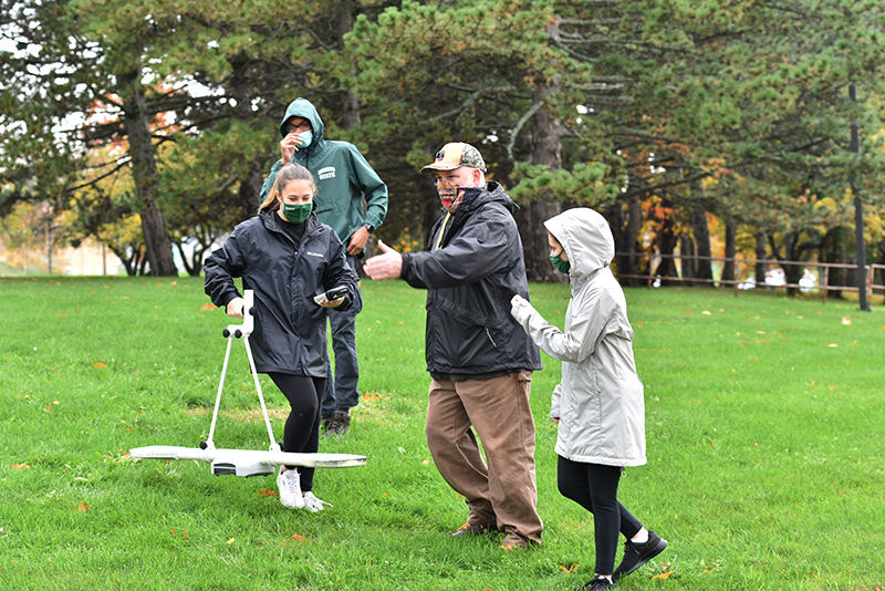 In late October, the Geology 101 class taught by Dave Valentino began mapping the area where the college's Splinter Village used to be located.