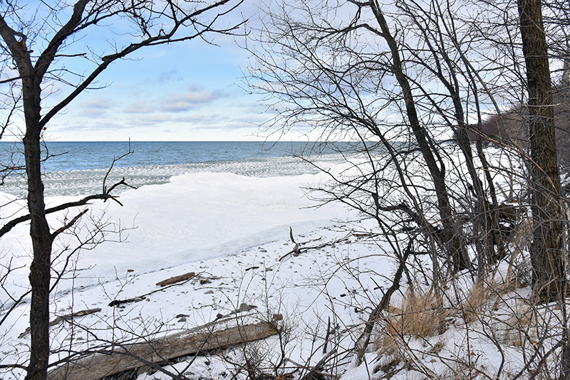 Recent cold weather helped form the seasonal freezing along the Lake Ontario shoreline. Caution is urged not to venture onto this floating ice familiar to the area.
