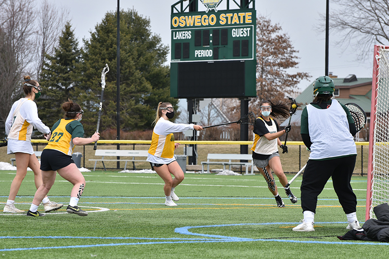 Spring sports teams have started practices and a limited number of games. The women's lacrosse team, pictured here, started their season March 20 with a 20-14 win over Morrisville.