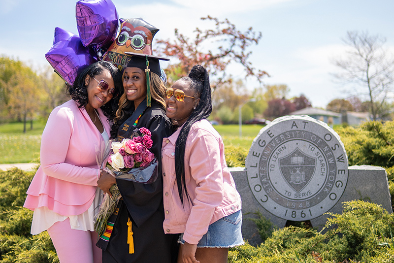 Graduates were allowed two guests each for their Commencement, with all completing health screening, making many happy moments and reunions possible.