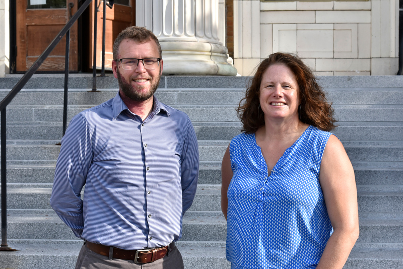 The college recently welcomed new faculty with 2020-21 start dates including Penfield Library archivist Zachary Vickery (left) and tenure-track technology education faculty member and PRODiG Fellow Karin Dykeman.