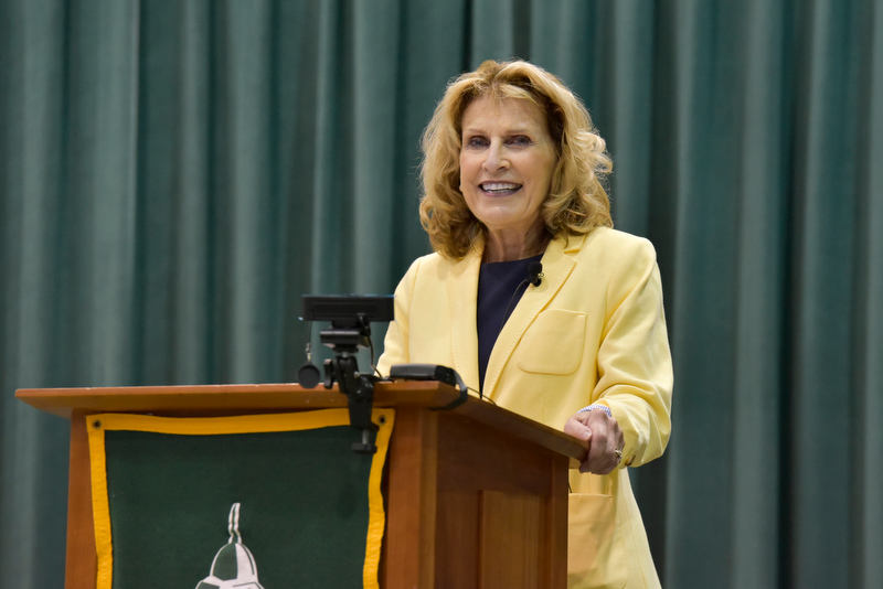 President Deborah F. Stanley provided an impassioned keynote to faculty and staff during the Fall 2021 Opening on Aug. 18, in which she provided details about the commendable accomplishments of SUNY Oswego and its community, as well as a look toward the future of the campus.