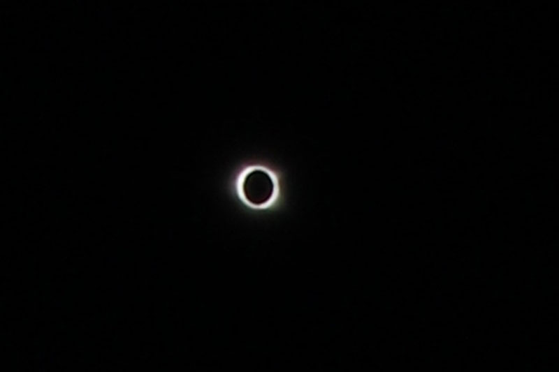 Image of eclipse near totality
