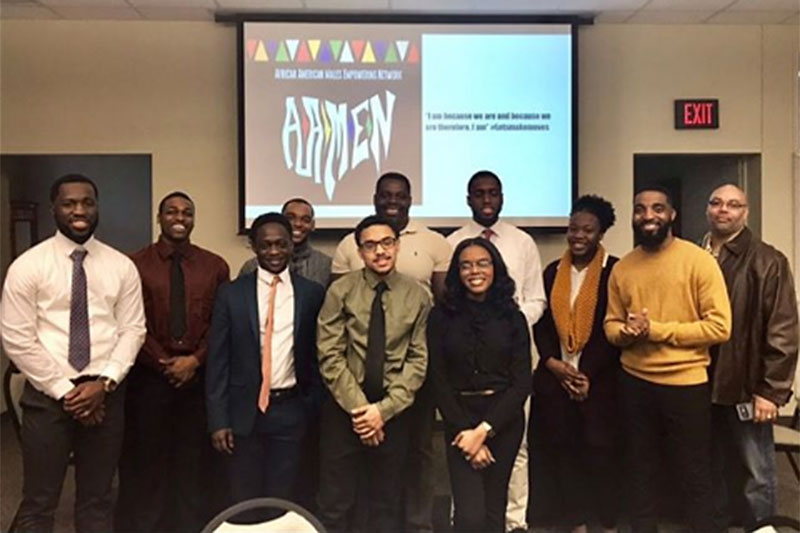 African American Males Empowering Network and the Office of Career Services hosted a student-led panel about securing and being successful in a first internship