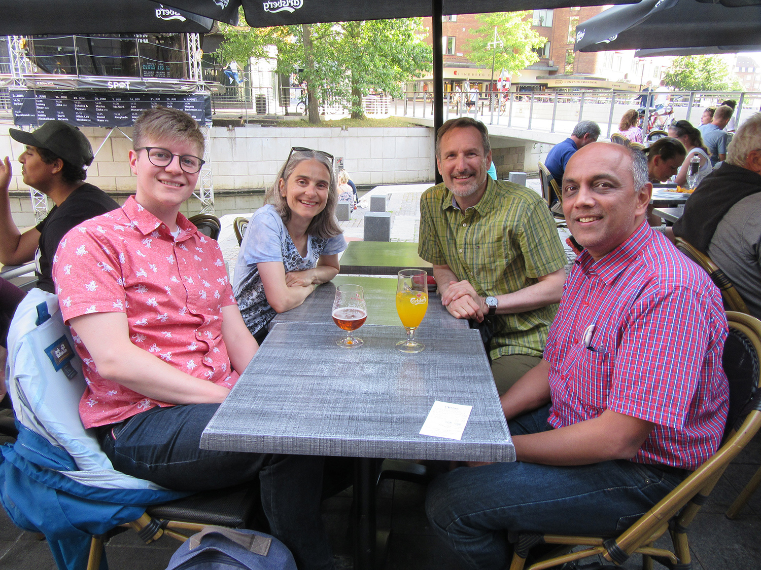 Oswego connections meet and eat in Denmark