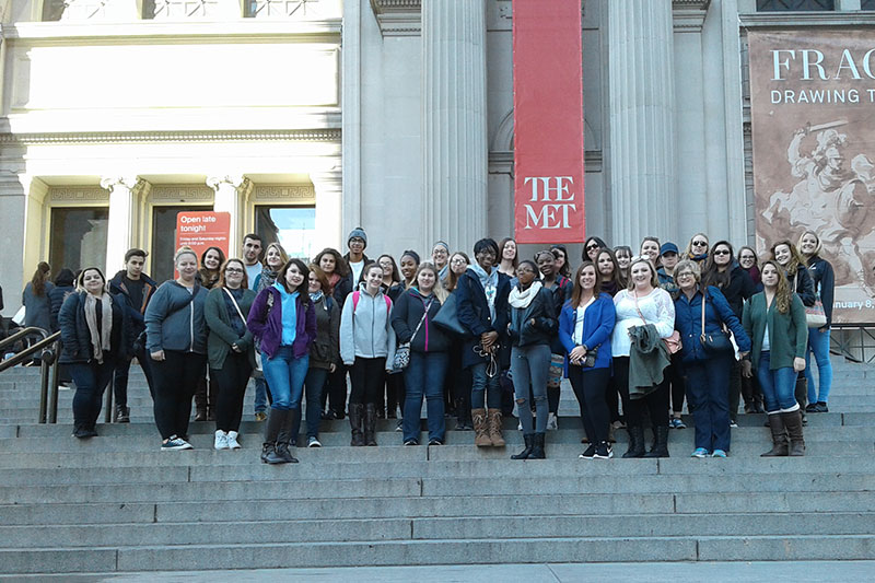 Students at the Metropolitan Museum of Art in New York
