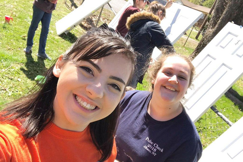 Students visit Alabama to help build Habitat for Humanity homes