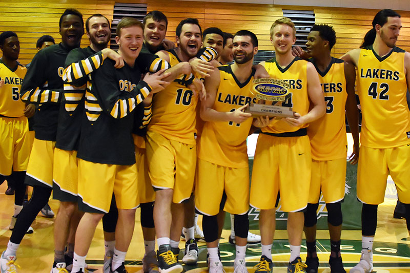 SUNYAC title-winning men's basketball team