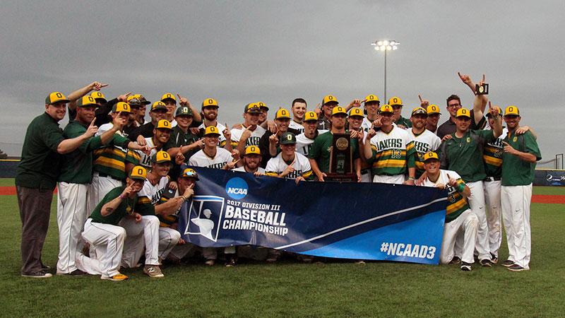 Laker baseball celebrates NCAA regional victory