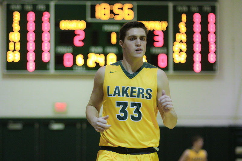 Men's basketball player Quinn Carey recently recorded the 1,000th point of his collegiate career