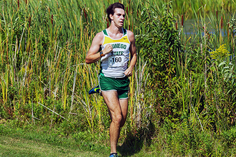 Sophomore cross-country standout Dylan McCarthy running
