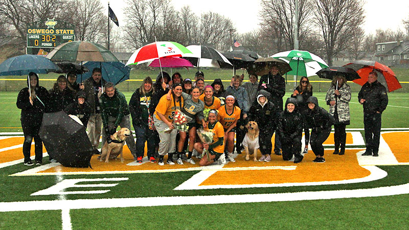 Laker women's lacrosse team celebrates senior class