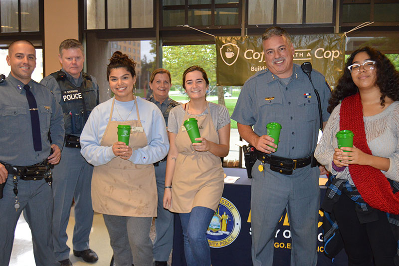 University Police, visitors observe Coffee With A Cop