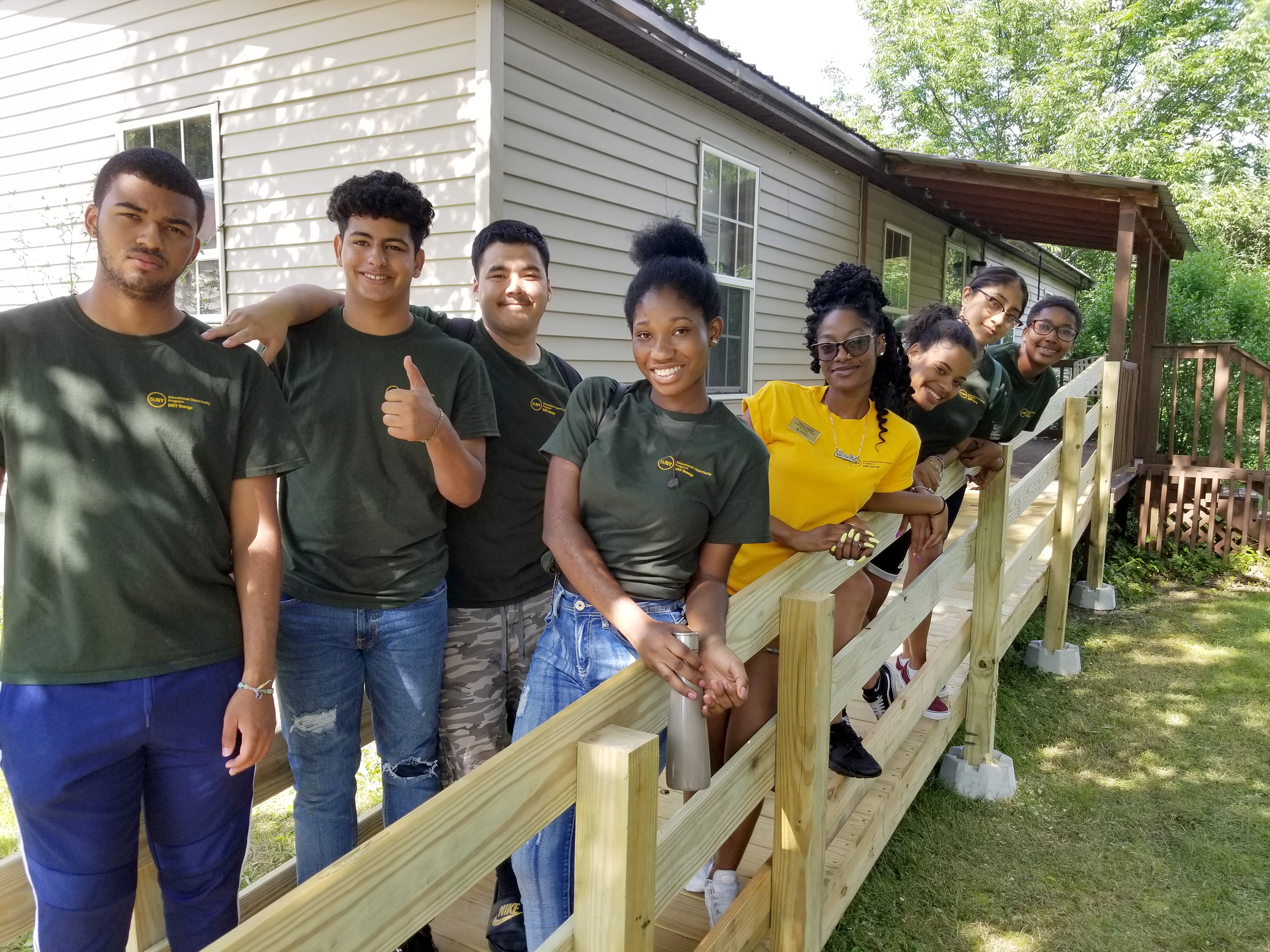 EOP students help ARISE to build a ramp to help a local resident